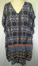 Ladies Womens Kaftan Tunic Top Casual Beach Dress Open Shoulder Katies Size 12