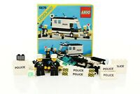 Lego Classic Town Police Set 6676 Mobile Command Unit 100% complete +instr. 1986