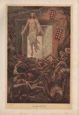 "Tissot Jesus CHROMO-LITHO PRINT - ""La Résurrection"" (1897)"