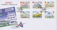 Unaddressed Jersey Cover FDC 2012 Aviation History XI Jersey Airport Set