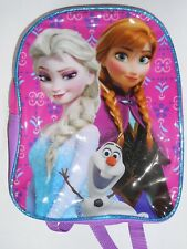 Purse Backpack DISNEY FROZEN Pink Purple Anna Elsa Olaf Tote Carry-All Bag