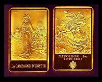 ★★ MAGNIFIQUE MEDAILLE PLAQUéE OR ● NAPOLEON ● EN EGYPTE DEVANT UNE MOSQUEE ★★