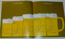 VINTAGE 1971 SCHLITZ BEER GUIDE TO DRAUGHT BEER GLASSWARE! MORE HEAD MORE PROFIT