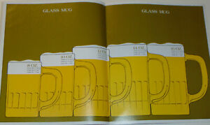 VINTAGE 1971 SCHLITZ BEER GUIDE TO DRAUGHT BEER GLASSWARE! MORE HEAD MORE PROFIT