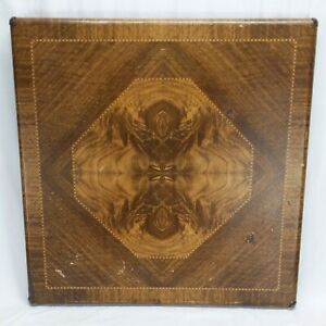 "Vintage Mid Century Shwayder Bros Samson Card Table Faux Wood Design 30""x30""x26"""