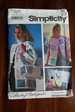 Sewing Pattern Simplicity 7893 Size A Pt-Lg Quilted jacket bag top Botsford