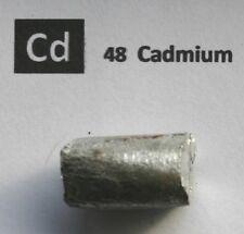 20 gram 99.98% Cadmium metal rod  - Pure Element 48 sample