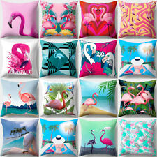FASHION FLAMINGO BEACH PRINT PILLOW CASE CUSHION COVER CAFE HOME DECOR FADDISH