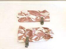 British Army-Issue Desert-Pattern Leather Combat Gloves.  Size 9.