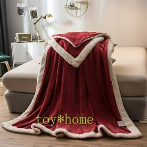Beautiful Thick Throws Blanket Bedding Comforter Warm Soft Multicolor Handmade