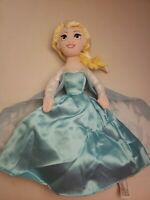 Disney Parks Frozen Elsa & Anna Reversible Double Plush Stuffed  Doll 15""