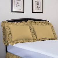 Ashton Ruffled Pillow Sham, Brand Name Bedding, High Thread Count, Solid Colors