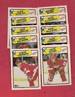 1988-89 TOPPS DETROIT RED WINGS  NRMT CARD LOT  (YZERMAN  )