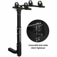 "Premium 2-Bike Carrier Rack Hitch Mount Swing Down Bicycle Rack W/2"" Receiver"