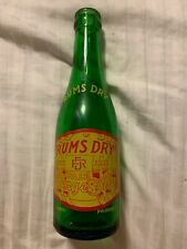 Vintage Rums Dry Pale Ginger Ale Acl Green 6oz Soda Bottle A Nehi Product Nice!