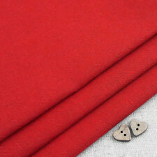 Robert Kaufman Essex Crimson Red Linen Blend Fabric / dressmaking Christmas