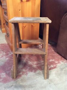 Traditional Stool. Vintage Rustic Hand Made Solid Wood Stool. Farmhouse Seat V54