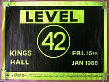 LEVEL 42 King's Hall BELFAST 1988 CONCERT POSTER Staring At The Sun VG+