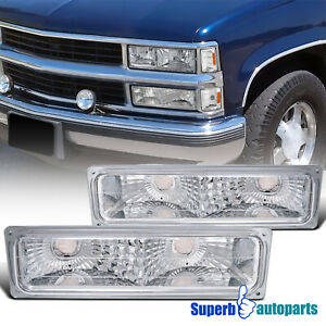For 1992-1994 Chevy Blazer Bumper Signal Lights Parking Lamps GMC Suburban C/K
