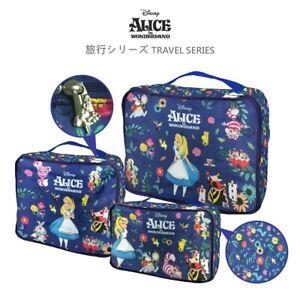 Disney Alice in Wonderland Exclusive Travel Accessories 3 pc Luggage Storage Bag