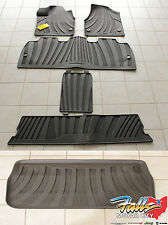 2017-2018 Chrysler Pacifica Complete Rubber Floor Mat Set and Cargo Tray OEM