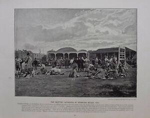 1896 London Aufdruck + Text Stamford Brücke Die Schottische Gathering (1895)