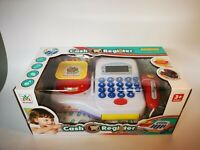 Kids Electric Cash Register Calculator Toys Pretend Cashier Learning Play Toy