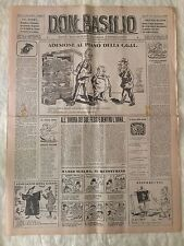 Don Basilio n.9 - 26 febbraio 1950 settimanale satirico d'opposizione