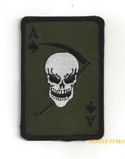 DEATH ACE OF SPADES REAPER PATCH US ARMY MARINES NAVY AIR FORCE SKULL TACTICAL