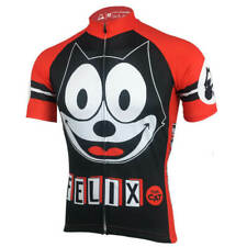 Vintage Men's Cycling Jersey Felix Cat Road Pro MTB Shorts Bicycle Shirt