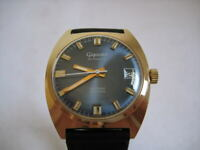 NOS NEW VINTAGE SWISS WATER RESIST AUTOMATIC DATE MEN'S ANALOG GIGANDET WATCH