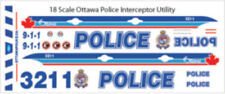 1/18 SCALE OTTAWA ONTARIO POLICE FOR FORD INTERCEPTOR UTILITY -  DOES 2 CARS