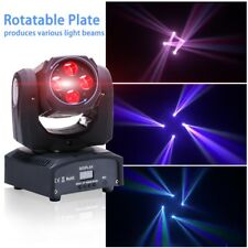 80W Mini Moving Head Light 4*20W RGBW 4in1 LED Stage Beam Lighting for Party Dis
