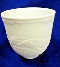 LLADRO COLLECTORS SOCIETY PORCELAIN  CUP/VOTIVE DOLPHINS AT PLAY 1998