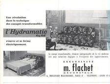 PUBLICITE ADVERTISING  1958   FLACHET meubles canapé lit transformable