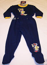 West Coast Eagles AFL Boys Navy Printed 2 Piece Fleece Pyjama Set Size 00 New