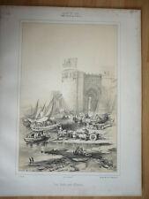 GRAVURE DE 1842 TOUR ARABE PRES D'ALMERIA ESPAGNE