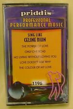Sing Like Celine Dion Karaoke (Cassette, Oct-1998, Priddis) NEW