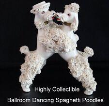 Lefton Spaghetti Poodles Vintage 50s Bookpiece Ballroom Dancing Pair FREE SHIP
