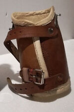 Antique German leather prosthesis medical arm or leg steampunk prosthetic deco