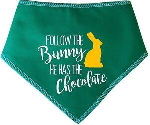 Spoilt Rotten Pets Green Follow The Bunny Easter Egg Dog Bandana Fancy Dress