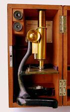 Ernst Leitz Wetzlar Messing Mikroskop Nr. 45888 um 1898 schöner Zustand
