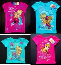 DISNEY FROZEN ANNA ELSA Comfort Cotton Tees T-Shirts NWT Girls Sz. 4, 5 or 6