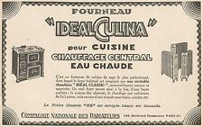 Y7200 Chauffage Central - IDEAL CUCINA - Pubblicità d'epoca - 1927 Old advert