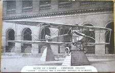 1920 WWI Aviation Postcard: Aviatik Allemand, Pris a Jonchery - Musee de L'Armee