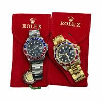 Pochette tessuto Custodia Monoposto Rossa Porta Rolex #soddisfattiorimborsati