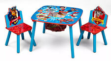 Kids Wood Table And Chairs Set Children Bedroom Furniture Childs Room Paw Patrol