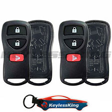 2 Replacement Remote Key Fob Shell Pad Case for 2002-2015 Nissan Xterra
