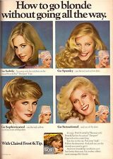 1980 Clairol Frost & Tip Hair Care Retro Print Advertisement AD Vintage VTG 80s