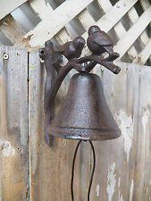 "Antique-Style Cast Iron ""Birds On A Twig"" BELL Dinner Windchime Wind Chime"